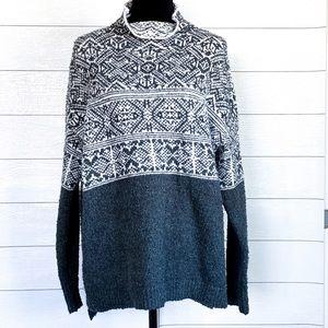Merona mock neck knit pullover sweater